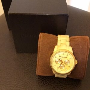 Michael Kors Horn Jet Set Chronograph Watch